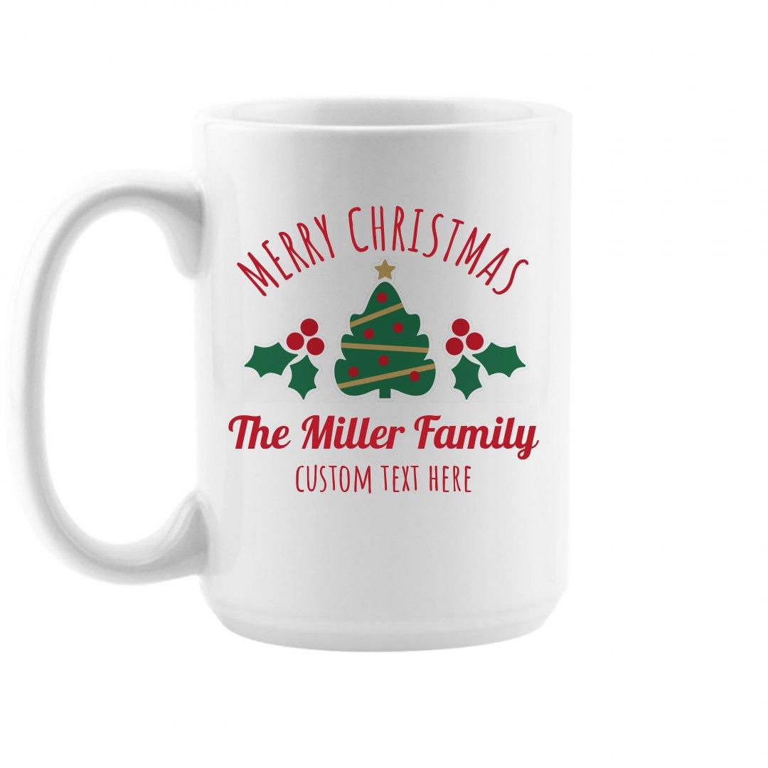 Custom Family Christmas Mugs 15oz Ceramic Coffee Mug