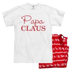 Papa Clause Christmas Pajamas