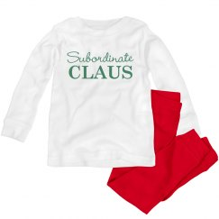 Subordinate Claus Toddler Jammies