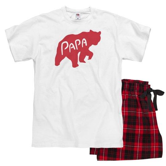 76e4937ff8 Papa Bear Family Pajamas Unisex Pajama Set