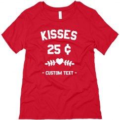 Kisses Custom Cute Valentine's Day Tee