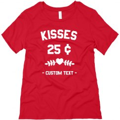 Kisses Custom Cute Valentine's Day Tee