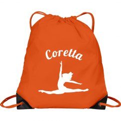 Custom ballet drawstring bag