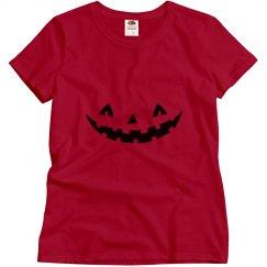 Pumpkin face Halloween tshirt