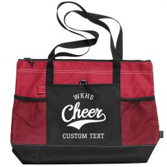 Customizable Cheer Zippered Travel Tote