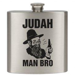 Judah Man Bro Flask