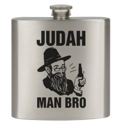 Judah Man Bro Flask