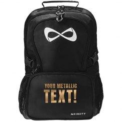 Custom Metallic Text Bag