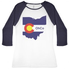 OhCo Junior Raglan Blue
