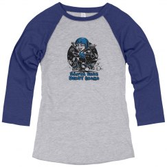 Groms blue baseball tee
