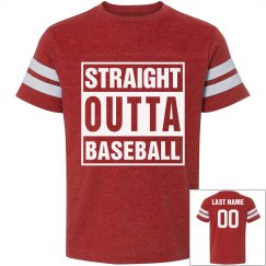 Straight Outta Baseball Youth Tee
