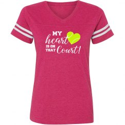 Heart on Court hot pink