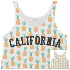 California White Pineapple Print