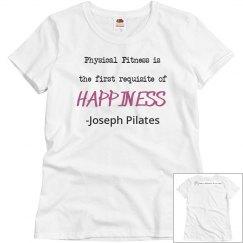 Joseph Pilates Happiness quote