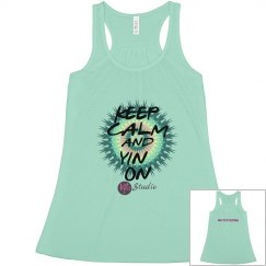 Keep Calm and Yin On Racer Back Tank
