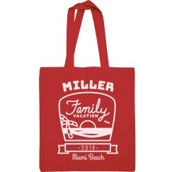 Custom Family Vacation Totes