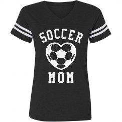 Soccer Mom Striped Tee
