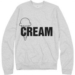 Creme white n blck