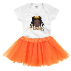 Black Girl Princess Infant Onesie with Tutu