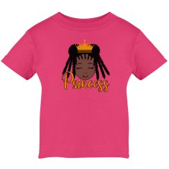 Black Girl Princess Infant Cotton T-Shirt