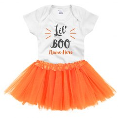 Lil' Boo & Tutu Custom Cutest Halloween Onesie