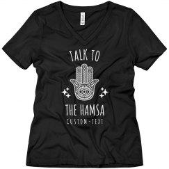 Talk to the Hamsa Boyfriend Tee