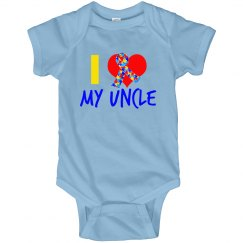I Love My Uncle Autism Ribbon