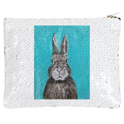 Rabbit (flip sequins make up bag)