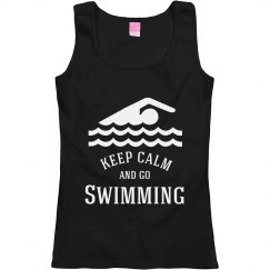 keep calm and go swimming
