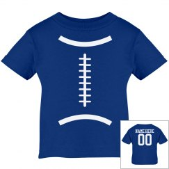 Cute Football Baby With Custom Name and Number