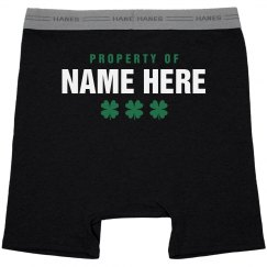 St Pattys Property Of Mens Boxer