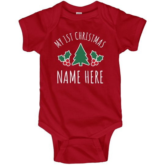 ff4a7911a Personalized My 1st Christmas Baby Infant Fine Jersey Bodysuit