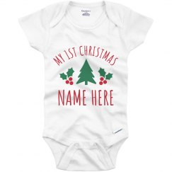 Custom My 1st Christmas Baby