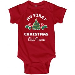 My 1st Christmas Custom Name