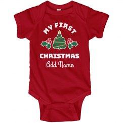 My 1st Christmas Custom Name