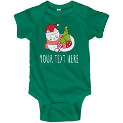 Cat Christmas Baby Custom Outfit