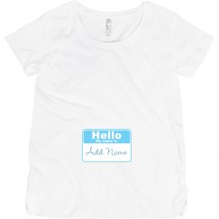 Hello Baby Boy Name Badge