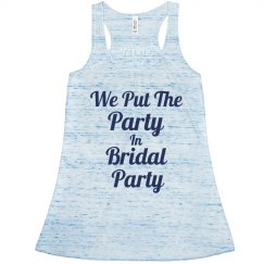 In Bridal Party Blue
