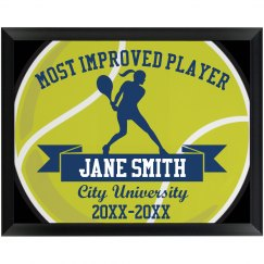 Tennis Player Plaque