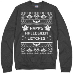 Happy Halloween Witches Ugly Sweater