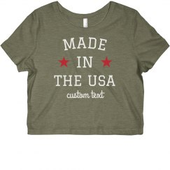 Made in the USA Custom Crop Top