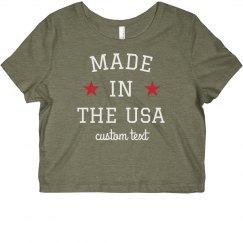 Made in the USA Custom Crop Top