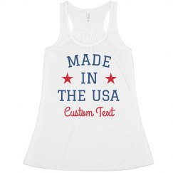 Made in the USA with Custom Text