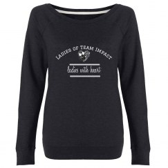 Ladies Of Team Impact Boat Neck Sweatshirt