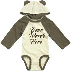 Cute Baby Bear Custom Text Gift