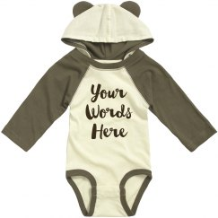 Cute Baby Bear Custom Text Gift