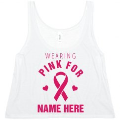 Custom Pink Breast Cancer Tank