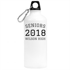 Custom School Seniors Class Water Bottle