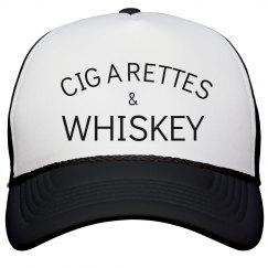 Cigarettes & Whiskey hat