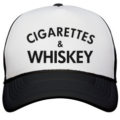 Cigarettes & Whiskey hat